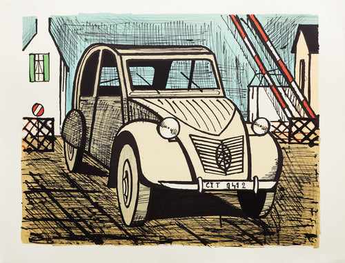 2 CV Citroen by Bernard Buffet
