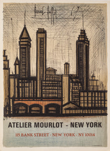 Atelier Mourlot - Bank Street, New York by Bernard Buffet, 1967