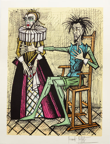 Don Quixote et la Duegne Barbue IX by Bernard Buffet