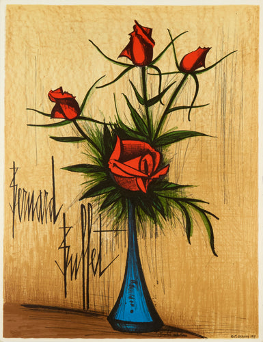 Fleurs (without lettering) by Bernard Buffet 1979