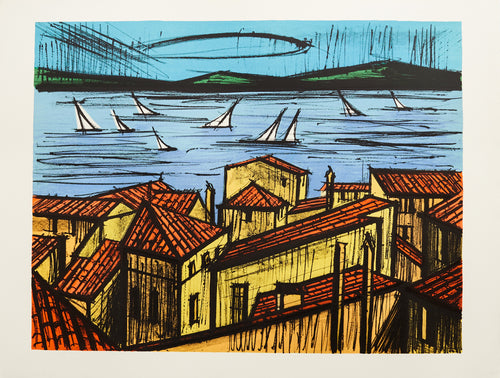 Roofs of St. Tropez by Bernard Buffet