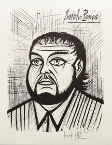 Sancho Pancha III (B&W) by Bernard Buffet