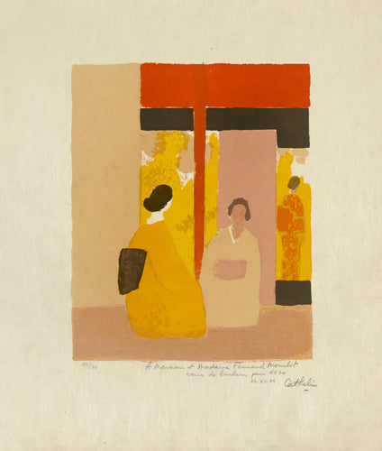 The Tea Ceremony 1 by Bernard Cathelin 1970
