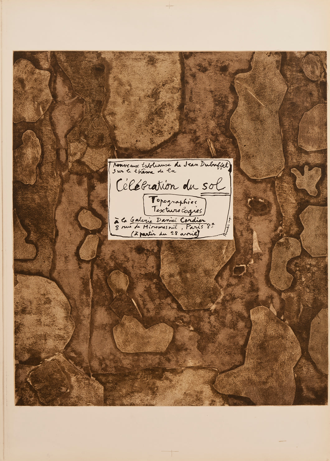 Celebration du Sol by Jean Dubuffet 1959