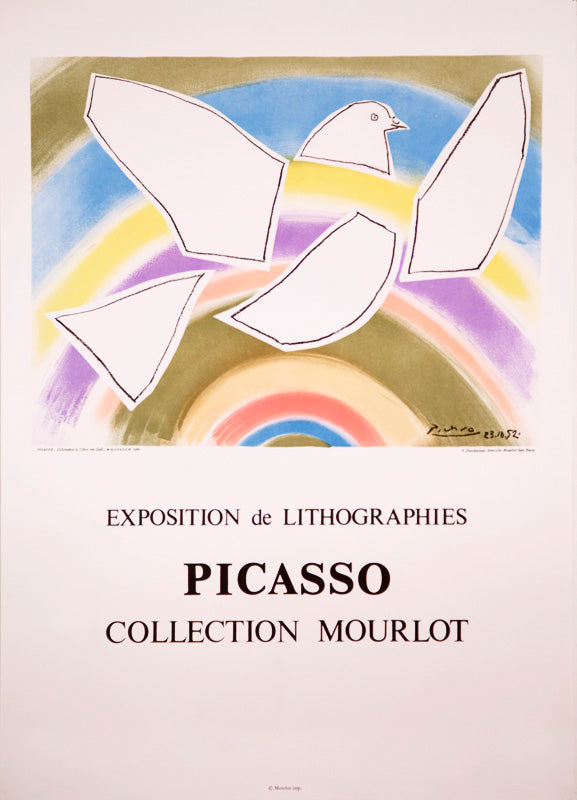 Collection Mourlot, The Rainbow Dove by Pablo Picasso 1988