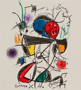 Composition Originale Pour Fernand Mourlot by Joan Miró 1975