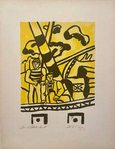"Les Marins (Sailors) From the Series ""La Ville"" by Fernand Leger"