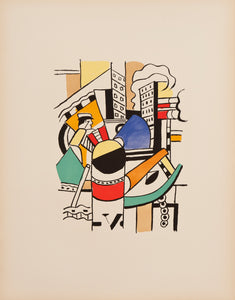 "Le Remorqueur Dans La Ville (The tug in the city) From the Series ""La Ville"" by Fernand Leger"