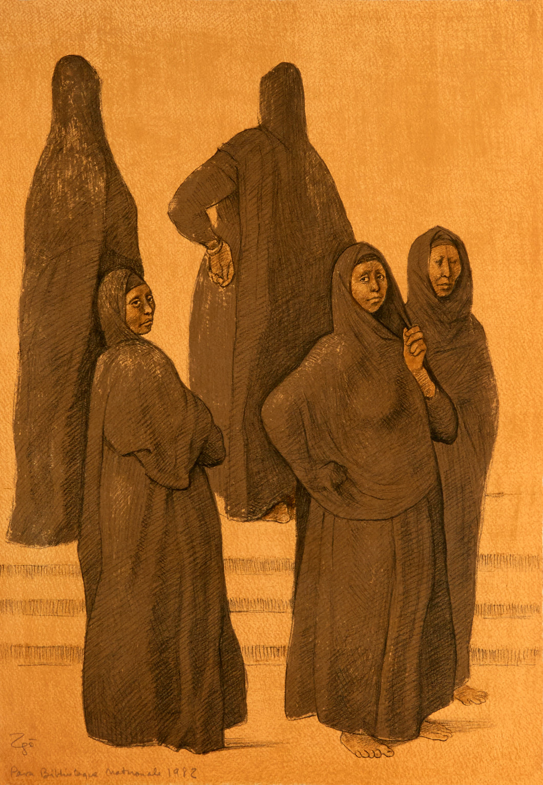 Impressions of Egypt Suite, Plate 1 by Francisco Zuniga 1982