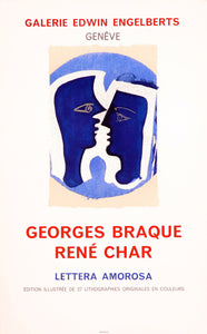 Galerie Edwin Engelberts-René Char by Georges Braque 1963