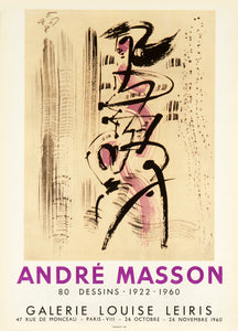 Galerie Louise Leiris by André Masson 1960