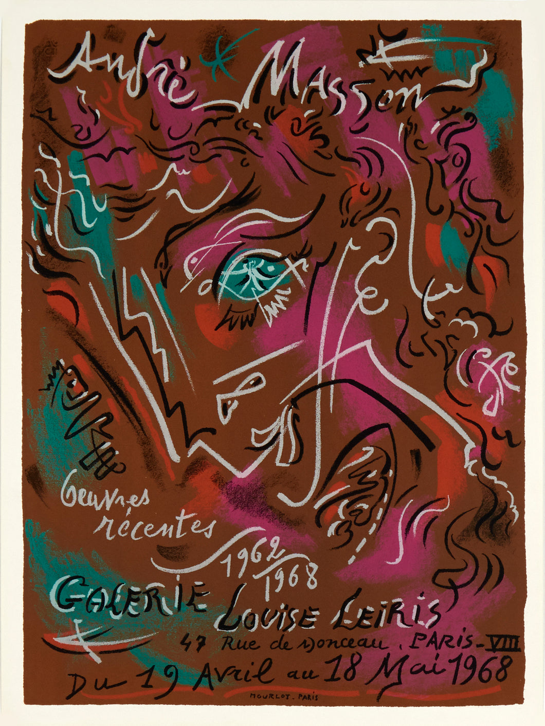 Galerie Louise Leiris by André Masson 1968
