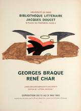 Lettera Amorosa, Jacques Doucet by Georges Braque 1963