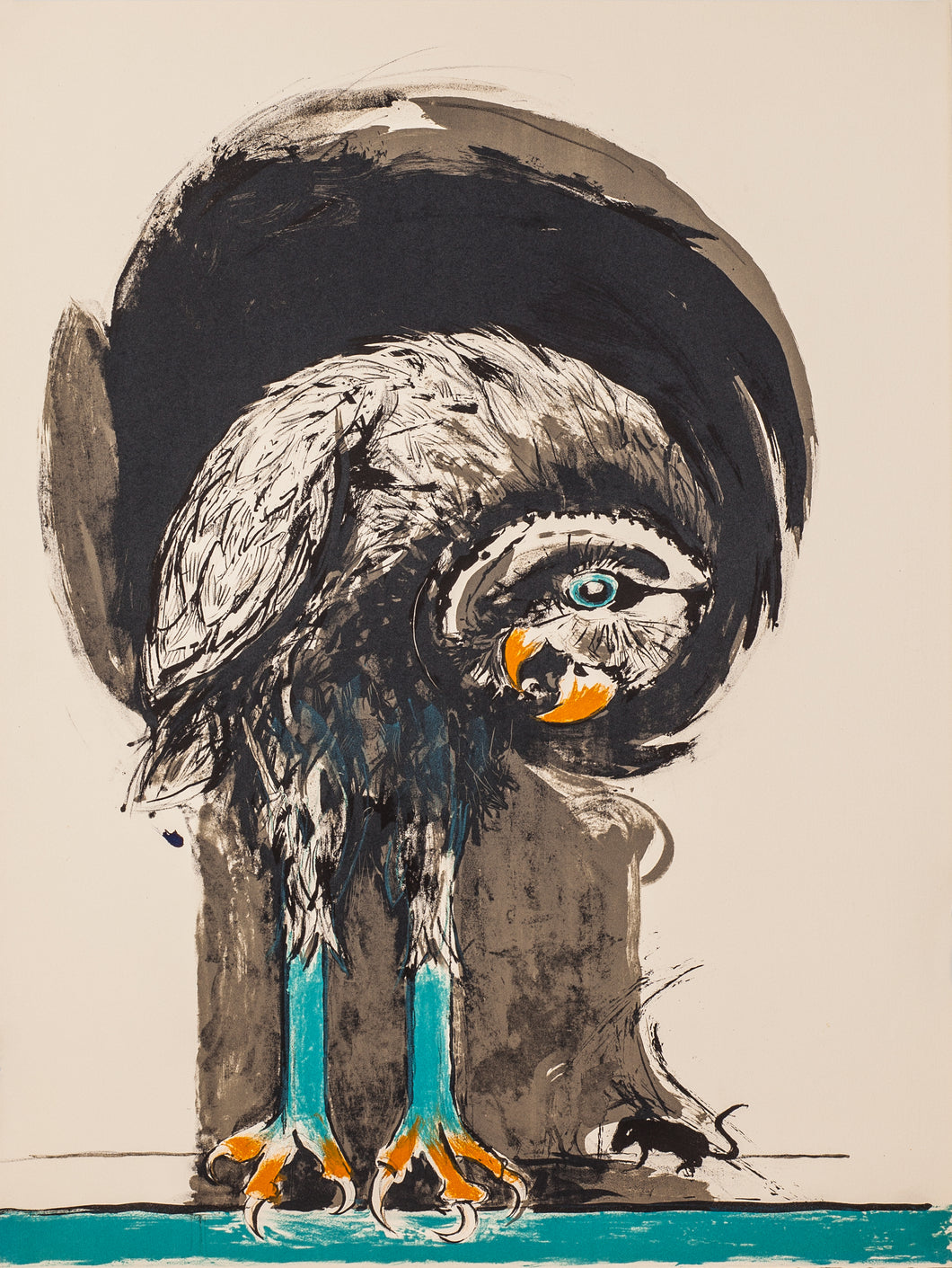 Bird with Mouse by Graham Sutherland