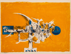 Thorn Cross (Orange Background) by Graham Sutherland