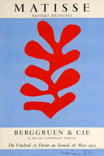 Papiers Decoupes, Berggruen & Co. Gallery Paris by Henri Matisse 1953