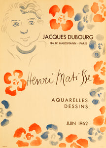 Jacques Dubourg by Henri Matisse 1962
