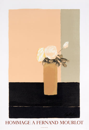 Roses Blanches - Hommage a Fernand Mourlot by Bernard Cathelin, 1989