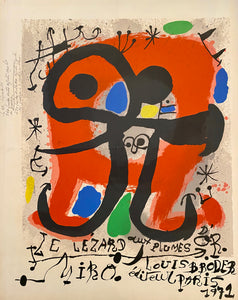 Lezard aux Plumes d'Or by Joan Miro, 1971