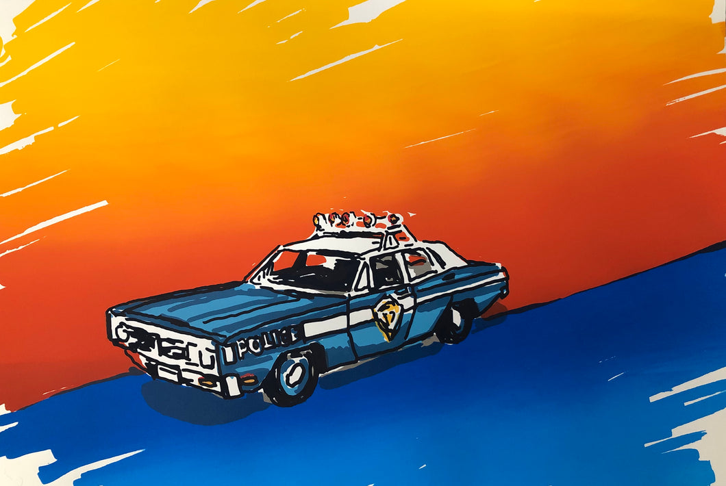 Police Car by M. Schorr