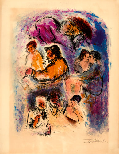 Judaica by Ira Moskovitz original signed lithograph