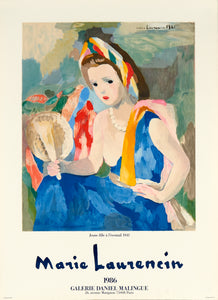 Jeune Fille a L'eventail by Marie Laurencin 1986