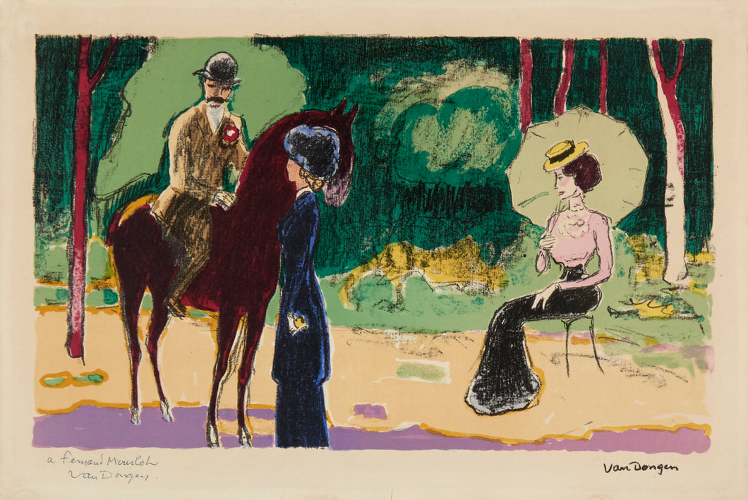 Meeting in the Woods by Kees Van Dongen 1950