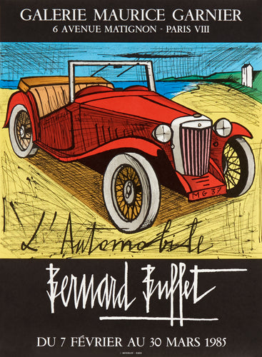 L'Automobile by Bernard Buffet 1985