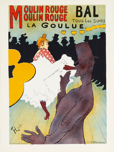 Moulin Rouge, La Goulue by Henri de Toulouse-Lautrec 1964