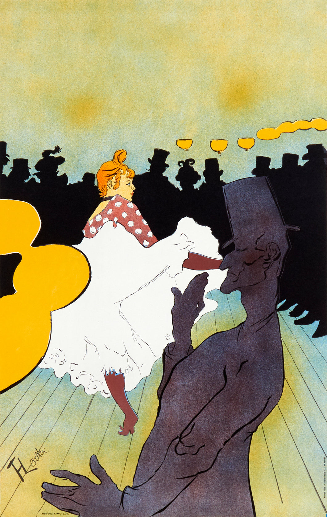 La Goulue by Henri de Toulouse-Lautrec lithographic poster