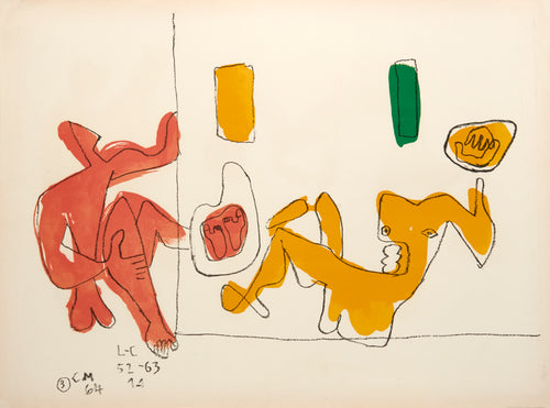 Touching their Feet by Le Corbusier 1964