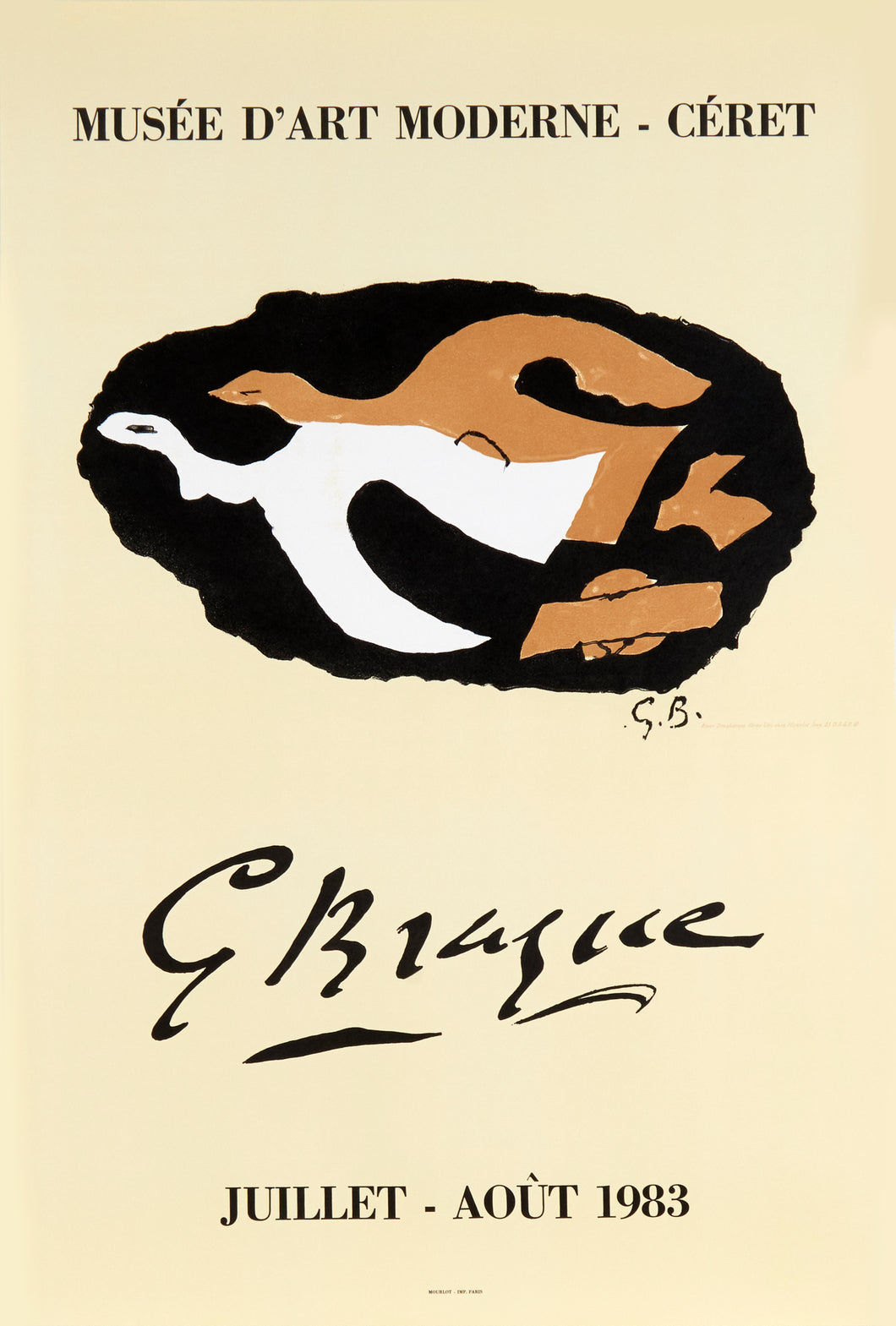 Musee D'Art Moderne by Georges Braque 1983