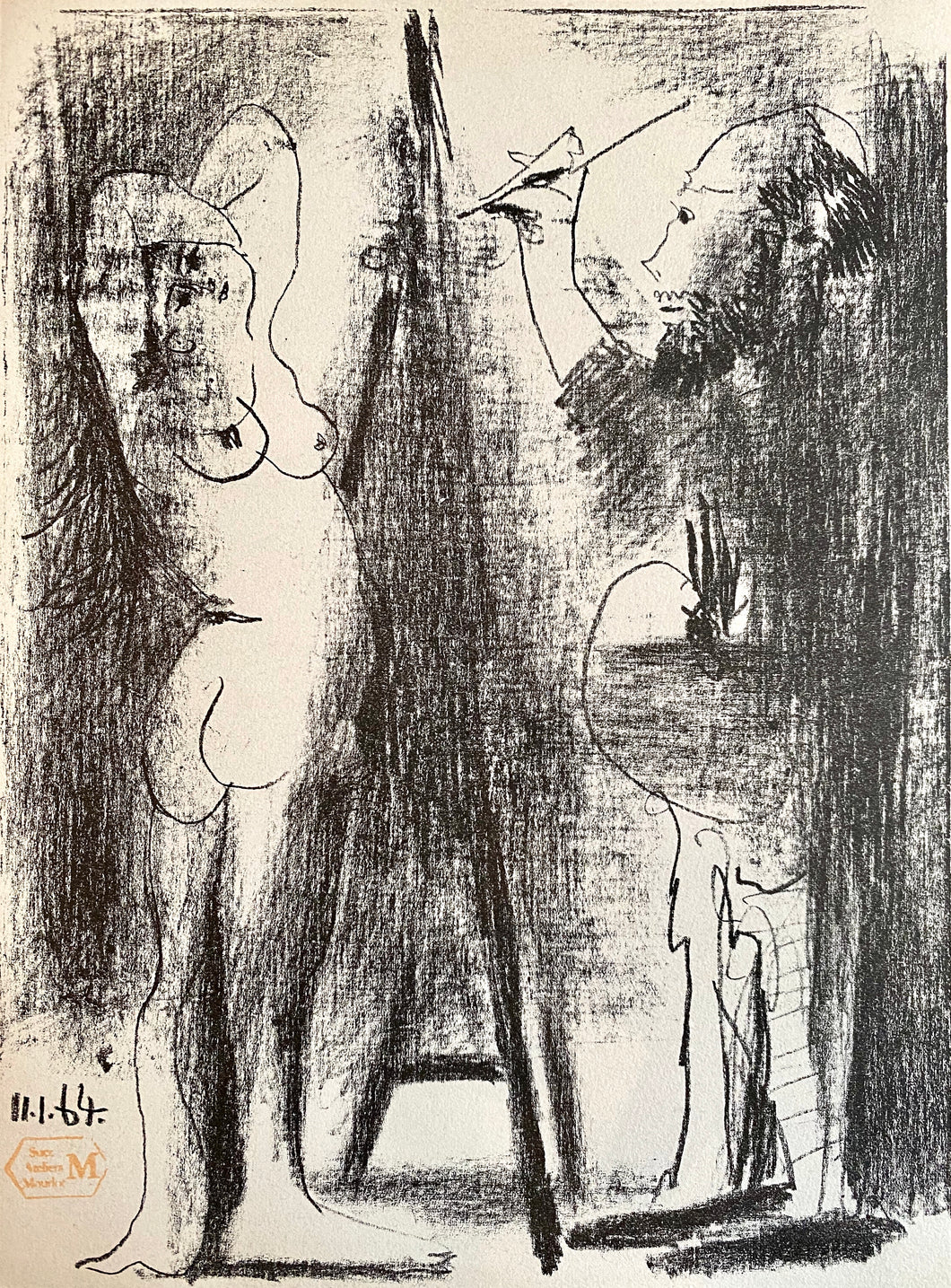 The Artist and his Model II by Pablo Picasso