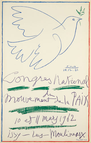 Congres National du Mouvement de la Paix by Pablo Picasso 1962