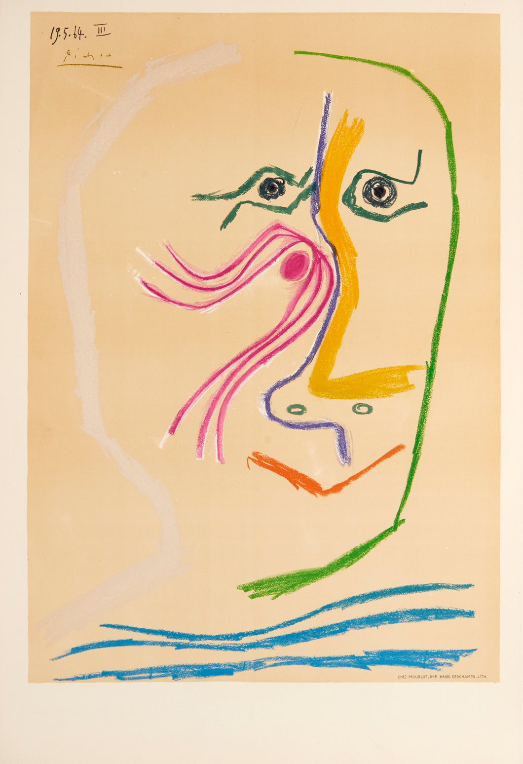 Hommage a Rene Char by Pablo Picasso 1964