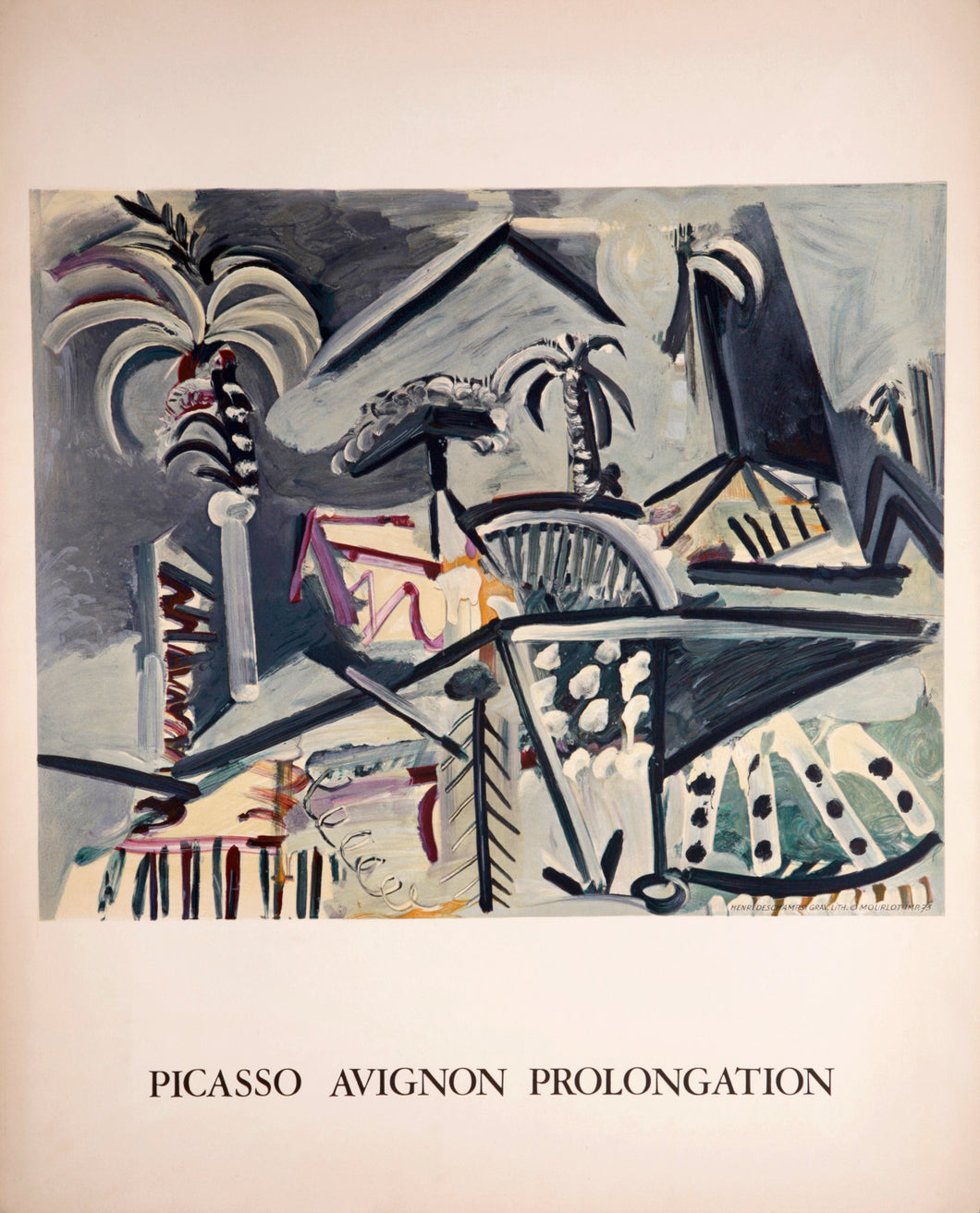Picasso Avignon Prolongation by Pablo Picasso 1973