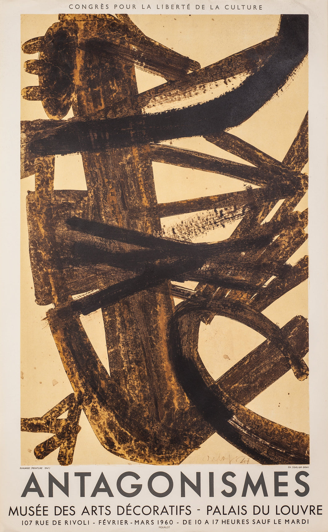 Antagonismes by Pierre Soulages, 1960
