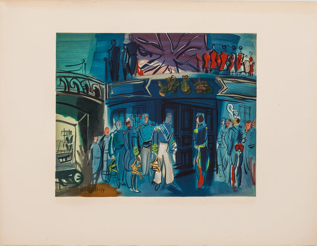 Reception, From a Drawing of Constantin Guys by Raoul Dufy