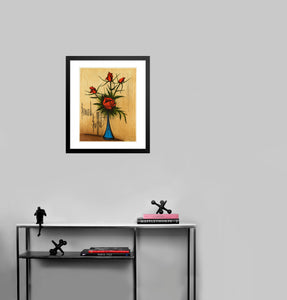 Fleurs (without lettering) by Bernard Buffet (to scale)