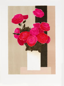 pink flowers by Bernard Cathelin 1983