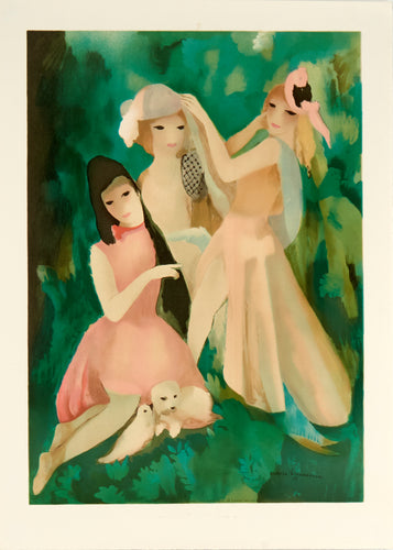 three girls sitting by Marie Laurencin 1987