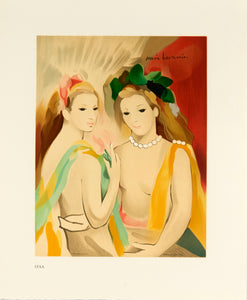 two women posing in headpieces by Marie Laurencin 1992