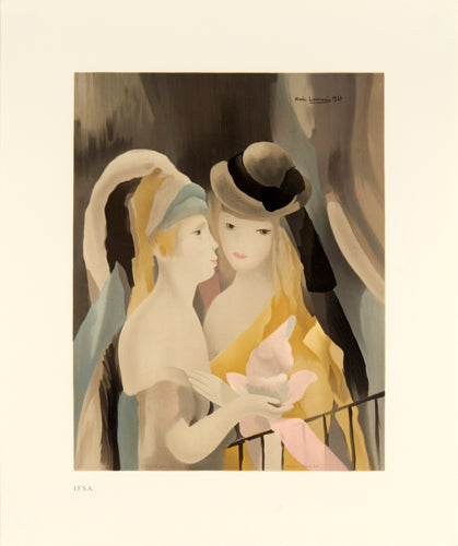 two women in hats by Marie Laurencin 1991