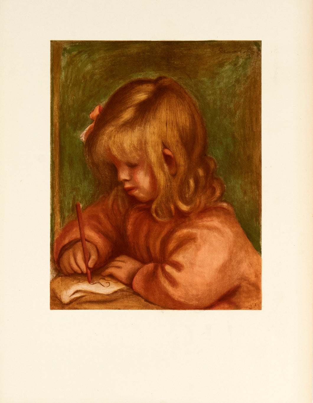 Jean Drawing by Pierre-Auguste Renoir 1969