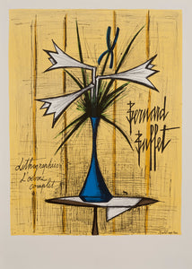 Vase d'arums by Bernard Buffet 1970