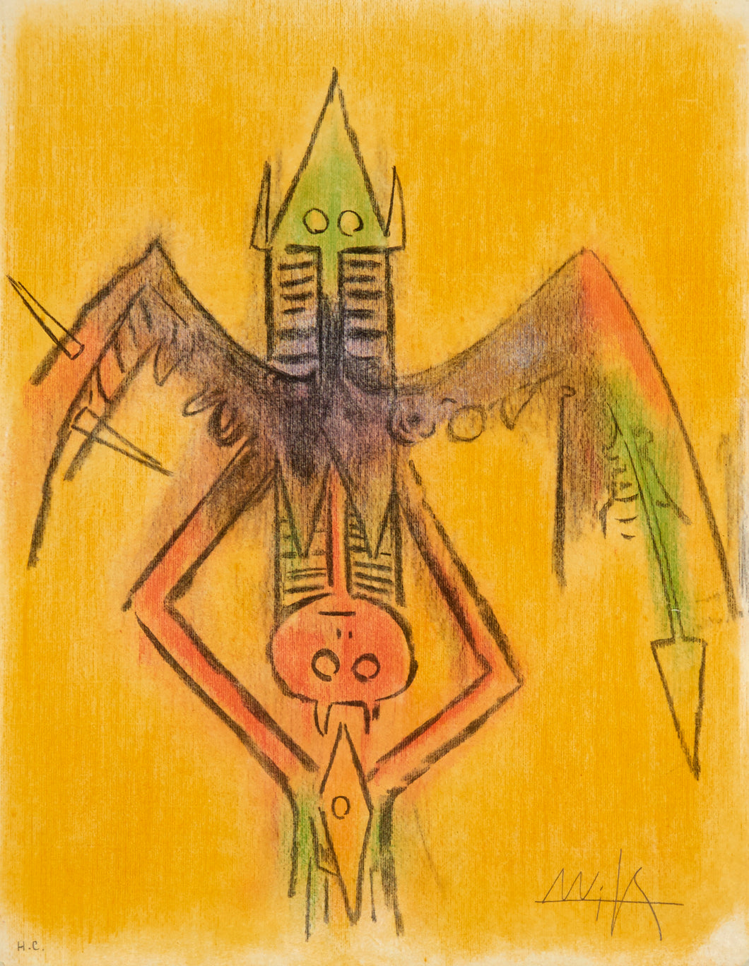 Innocence from the suite Pleni Luna by Wifredo Lam 1974