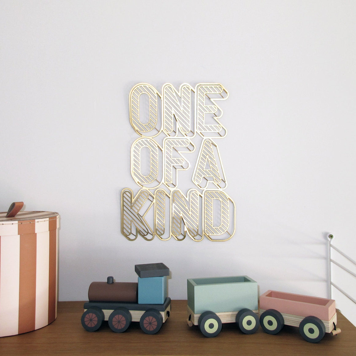 ONE OF A KIND Inspirational Phrase to hang on the wall | Wall Decor ShapeMixer