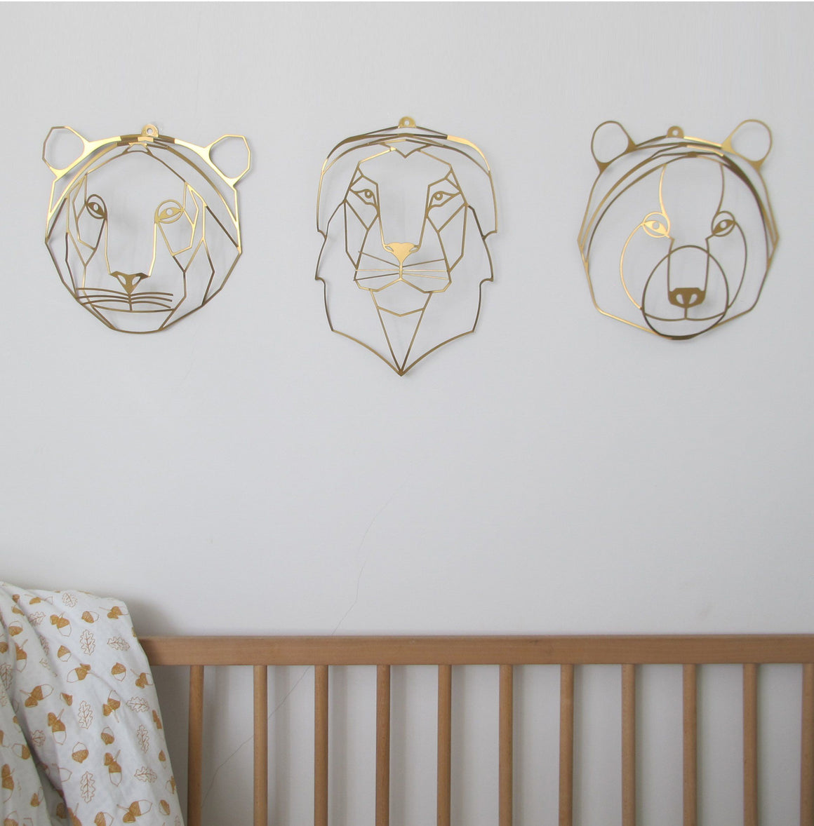 Pack of three heads to hang on the wall | Wall Decor ShapeMixer