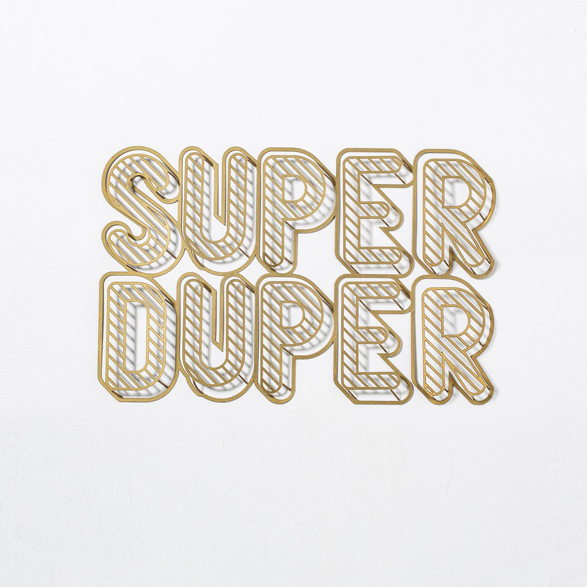 SUPER DUPER Inspirational Phrase to hang on the wall | Wall Decor ShapeMixer
