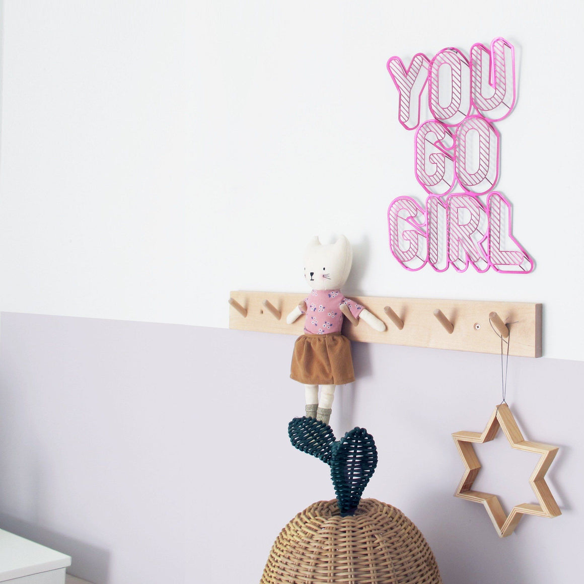 YOU GO GIRL Inspirational Phrase to hang on the wall | Wall Decor ShapeMixer